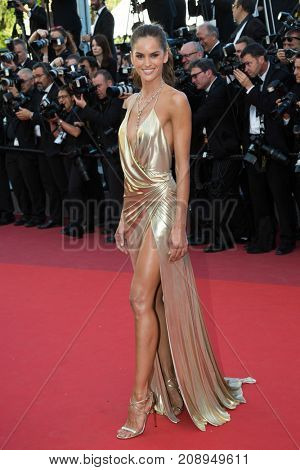 CANNES, FRANCE - MAY 20: Izabel Goulart  attends the 'The Last Face' premiere. 69th annual Cannes Film Festival at the Palais des Festivals on May 20, 2016 in Cannes