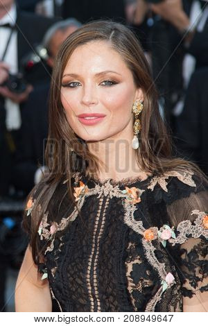 CANNES, FRANCE - MAY 22, 2015: Harvey Weinstein's wife Georgina Chapman attends the 'The Little Prince' premiere. 68th annual Cannes Film Festival at the Palais des Festivals