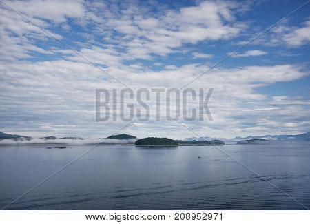 Scenic landscape of Icy Strait Point, Hoonah, Alaska, USA