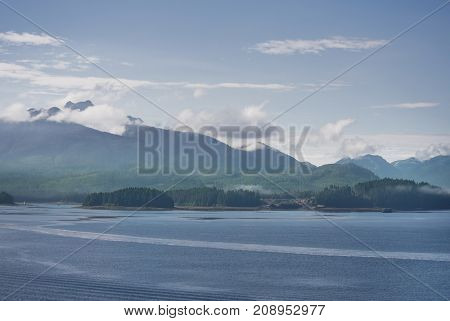 Scenic landscape from Icy Strait Point, Hoonah, Alaska, USA