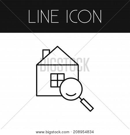 Magnifier Vector Element Can Be Used For Search, Magnifier, House Design Concept.  Isolated Search Outline.
