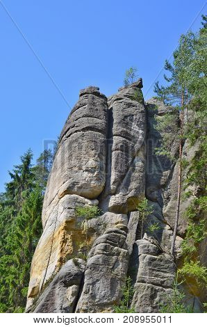 rock formations Adrspach-Teplice National Nature Reserve Czech Republic