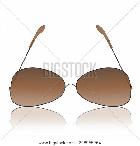 Modern glasses icon isolated on white background
