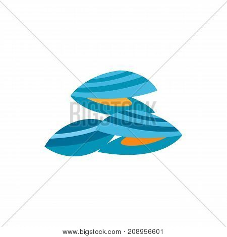 Vector icon of mussels. Shelfish, delicatessen, restaurant. Seafood concept. Can be used for topics like food, sea animals, fishery