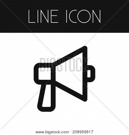 Sound Vector Element Can Be Used For Volume, Sound, Bullhorn Design Concept.  Isolated Volume Outline.
