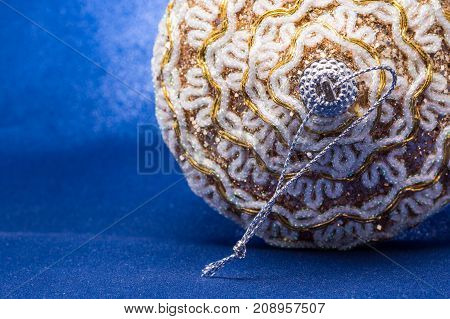 magical and bright Christmas toy with beautiful patterns on a blue background