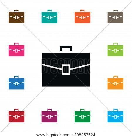 Suitcase Vector Element Can Be Used For Briefcase, Suitcase, Portfolio Design Concept.  Isolated Briefcase Icon.