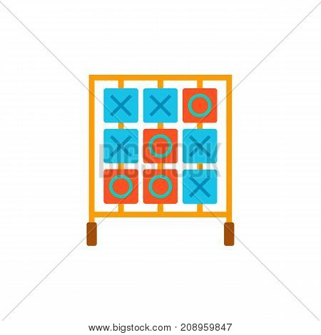 Vector icon of table for tic tac toe game. Break, leisure game, competition. Table games concept. Can be used for topics like hobby, leisure, intellectual games