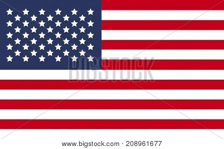 United State Of America Usa Flag Isolated Vector In Official Colors And Proportion Correctly.