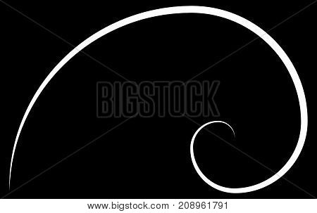 Golden Ratio. Cover Template. Template Design. Scalable Vector Illustration Of Spiral With Golden Ra