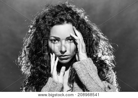 Sensual Pensive Woman