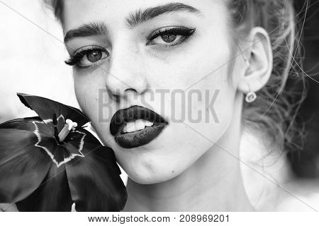 Woman With Red Poppy Seed