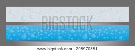 Background with soap bubbles. Set banners for the website. Cleaning service. Templates standard size. Vector illustration.