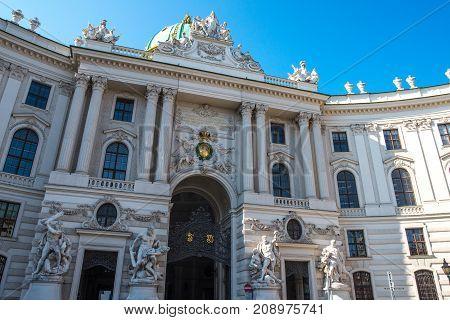 Alte Hofburg in Vienna Austria September 2017.