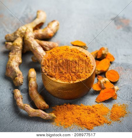 Raw Turmeric Root Curcuma Longa Powder