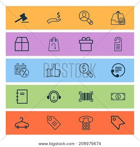 Ecommerce Icons Set. Collection Of Spectator, Price, Employee And Other Elements
