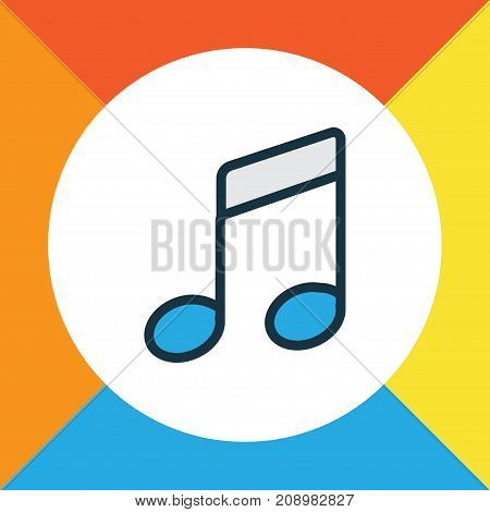 Premium Quality Isolated Sound Element In Trendy Style.  Notes Colorful Outline Symbol.