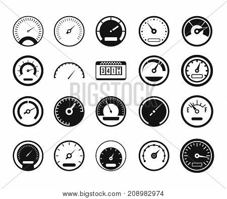 Dashboard icon set. Simple set of dashboard vector icons for web design isolated on white background
