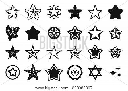 Stars icon set. Simple set of stars vector icons for web design isolated on white background