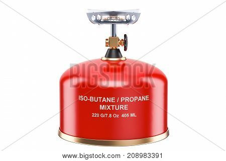 Red Primus Stove 3D rendering isolated on white background