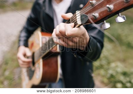 musician guitar player artist performer practice concept
