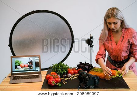food photography stylist advertisment photo e-commerce technology concept