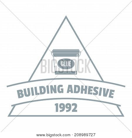 Building adhesive logo. Gray monochrome illustration of building adhesive vector logo for web
