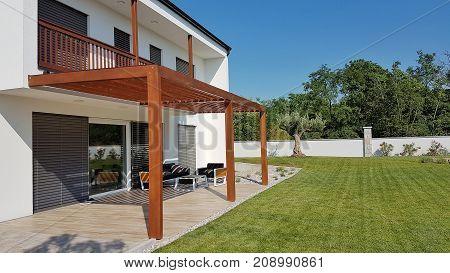 Pergola On Passive House