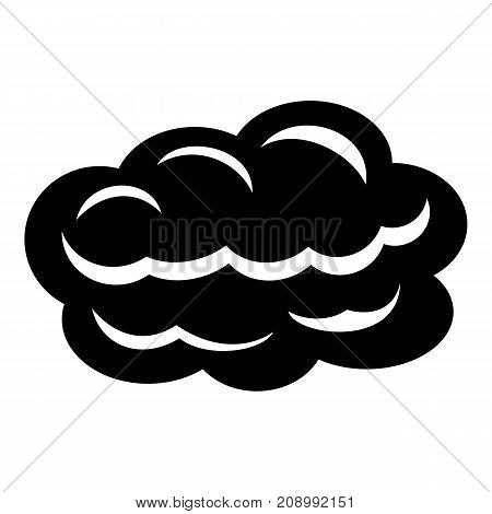 Technology cloud icon. Simple illustration of technology cloud vector icon for web