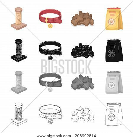 Pet store, products, merchandise and other  icon in cartoon style.Coil, thread, collar icons in set collection.