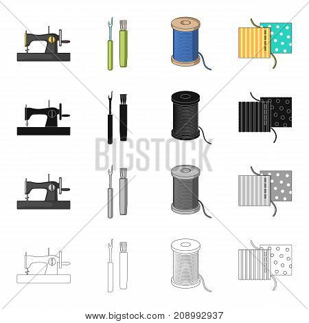 Machine, sewing, equipment, and other  icon in cartoon style.Atelier, factory, workshop icons in set collection