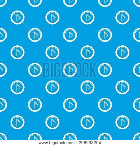 Cursor to right in circle pattern repeat seamless in blue color for any design. Vector geometric illustration