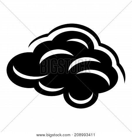 Climate cloud icon. Simple illustration of climate cloud vector icon for web