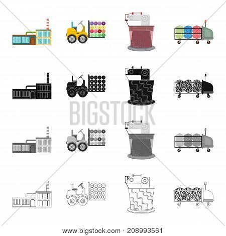 Factory, enterprise, building, and other  icon in cartoon style.Bench, tool, installation icons in set collection