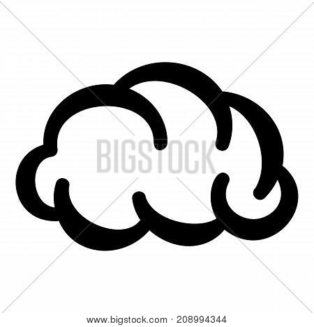 Communication cloud icon. Simple illustration of communication cloud vector icon for web