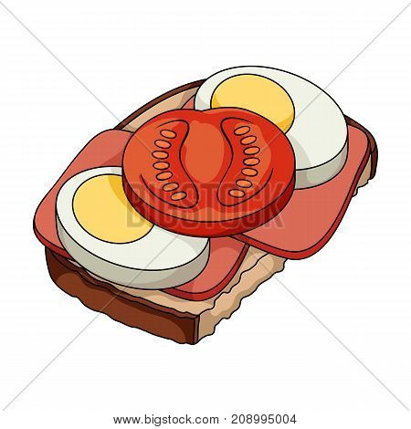 Sandwiches, single icon in cartoon style.Sandwiches, vector symbol stock illustration .