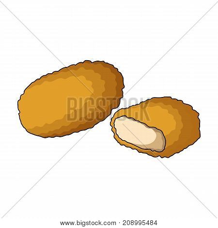 Nugget, single icon in cartoon style.Nugget, vector symbol stock illustration .