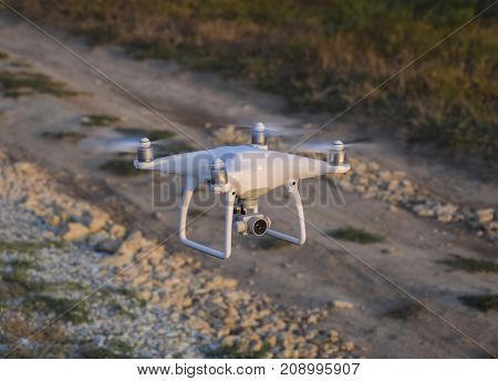 The Drone, Hovering Above The Ground
