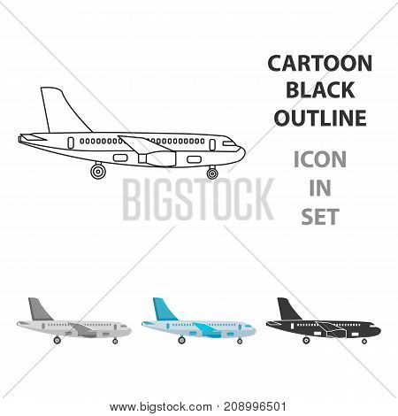 Airplane icon of vector illustration for web and mobile design