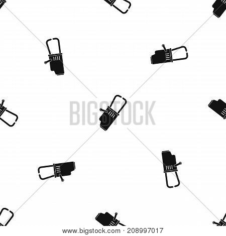 Welding equipment pattern repeat seamless in black color for any design. Vector geometric illustration