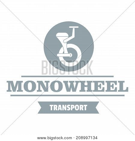 Urban mono wheel logo. Simple illustration of urban mono wheel vector logo for web