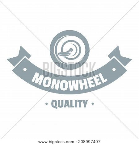 Modern mono wheel logo. Simple illustration of modern mono wheel vector logo for web