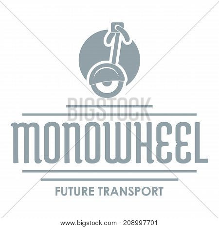 Personal mono wheel logo. Simple illustration of personal mono wheel vector logo for web