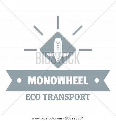 Lifestyle mono wheel logo. Simple illustration of lifestyle mono wheel vector logo for web