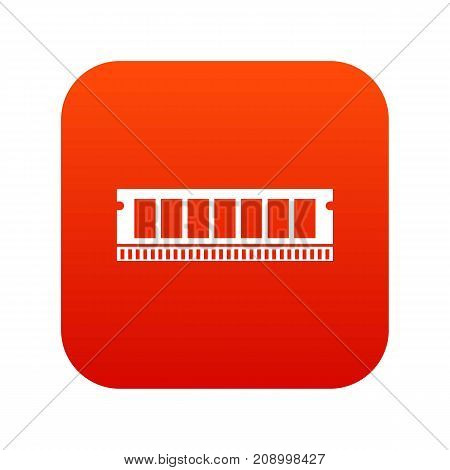 DVD RAM module for the personal computer icon digital red for any design isolated on white vector illustration