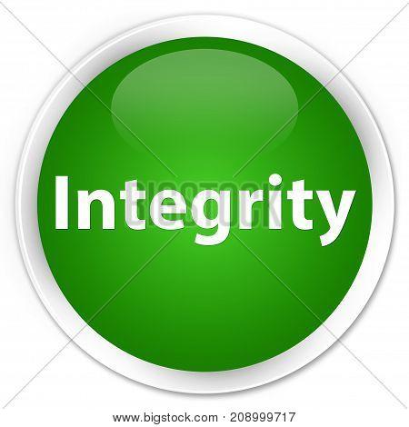 Integrity Premium Green Round Button