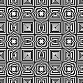 Seamless op art geometric pattern. Vector art. poster