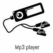 Mp3 player icon. Simple illustration of mp3 player vector icon for web poster
