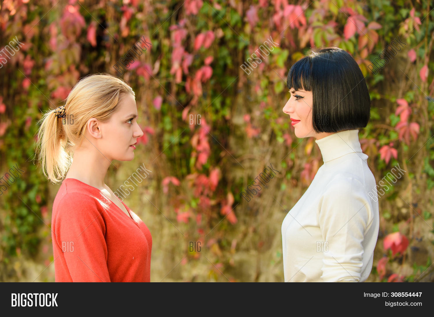Girls Looking Into Image Photo Free Trial Bigstock