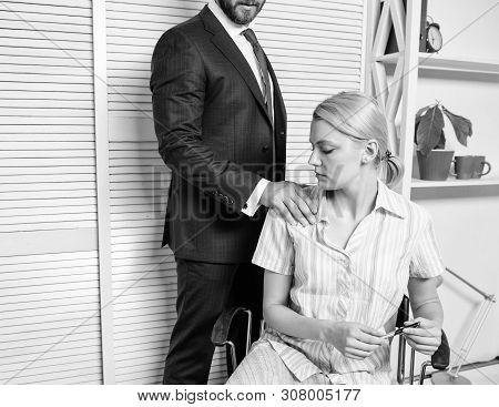 Prejudice Office. Office Woman And Her Lustful Boss. Girl Indecent Behavior.